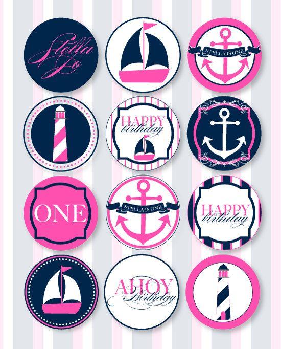 Nautical Birthday Party PRINTABLE Party Circles by por lovetheday
