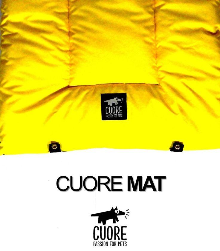 Regalale a tu perro un lindo y comodo Mat amarillo #cuore #passionforpets #yellow #amarillo #dogmat #style #fashion