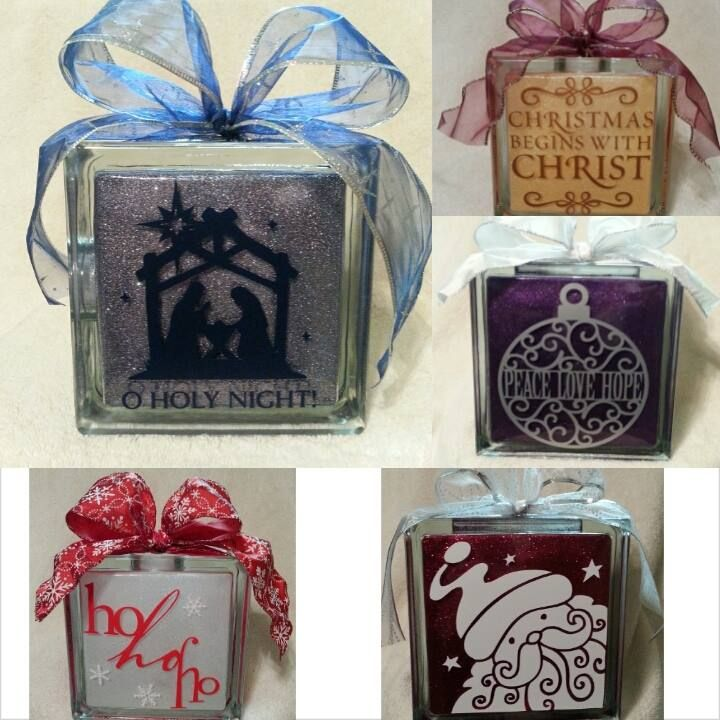 Holiday Block Ideas Glass Blocks Pinterest