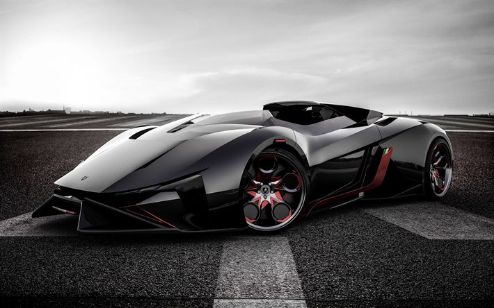 Download wallpapers Lamborghini Diamante, Concept, 2017, Supercar, racing car, hypercar, Lamborghini
