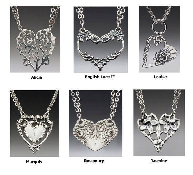 How to Make Silverware Jewelry | Spoon Jewelry - Spoon Heart Necklace
