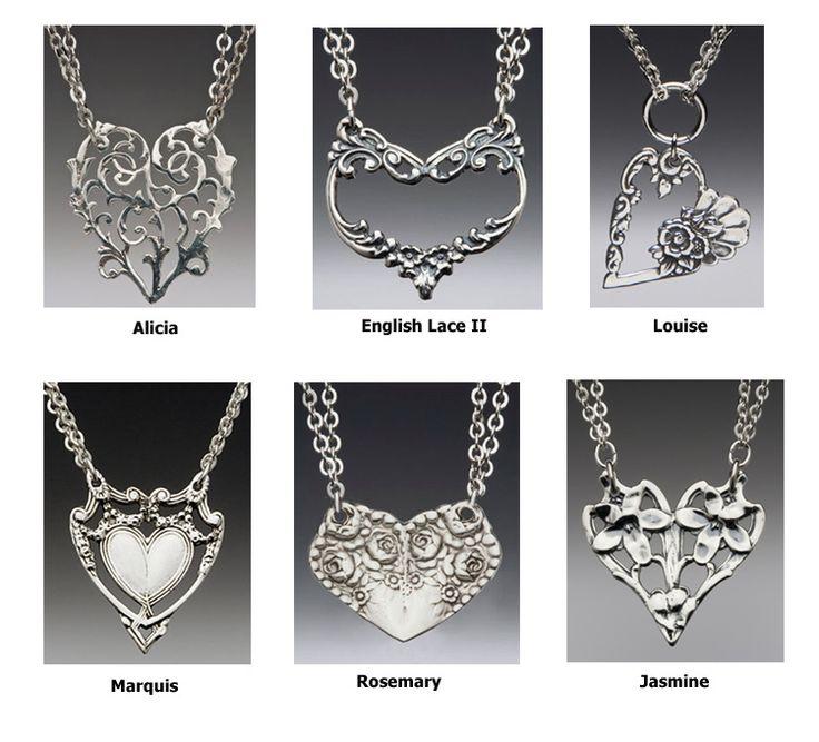 How to Make Silverware Jewelry | Spoon Jewelry - Spoon Heart Necklace