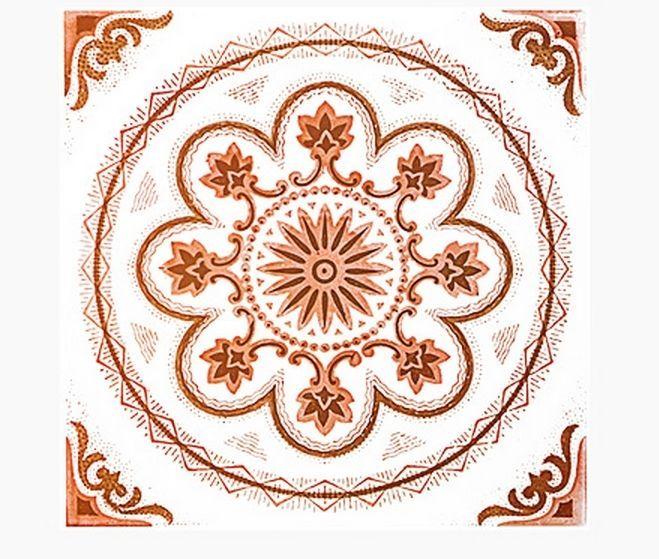 Decolfa Tile Sticker (Orange) For DIY Decorate Home Design Art Kitchen Room Sink