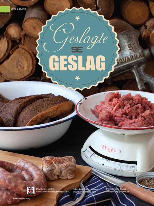 NEWS:  For the latest issue of Marktoe Magazine's Lekkerbekkig the team cooked up a storm with all things delicious meat. In this feature they show you how to make your own Biltong, Wors, Skiilpaaitjies and more. The bean and lamb stew was a winner as well as the liver dish. Make sure to pick up your free copy at any Kaap Agri store. Production Details: Photographers: Riehan Bakkes Stylist: Simone Kruger Publisher: Wordsworth Publishing Publication: Lekkerbekkig in MarkToe Magazine