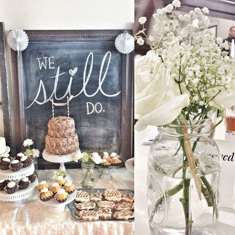 Adorable Anniversary Decor {from: A Place for Us Blog}