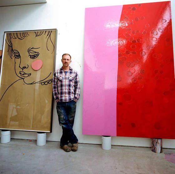 Gary Hume in his Clerkenwell studio