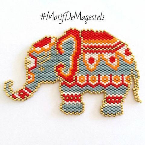 1er post instagram, 1er concours miyuki, 1er diagramme maison Nous vous présentons ce petit éléphant d'Asie pour une participation au concour #miyukivoyageenasie de #perleandco proposé par @perleandco, @petit_bout_de_chou_hk et @teaforyoubijoux #jenfiledesperlesetjassume #lelephant #inde #peyote