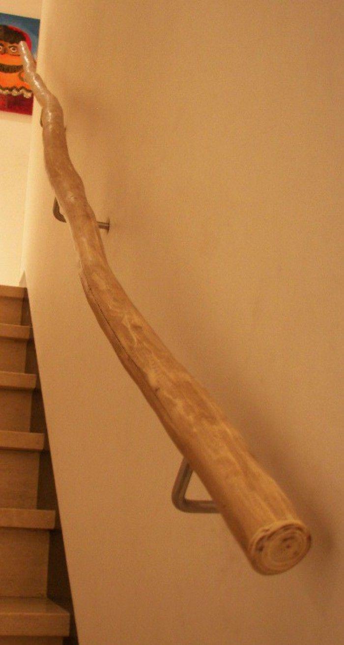 Trapleuning - oud hout