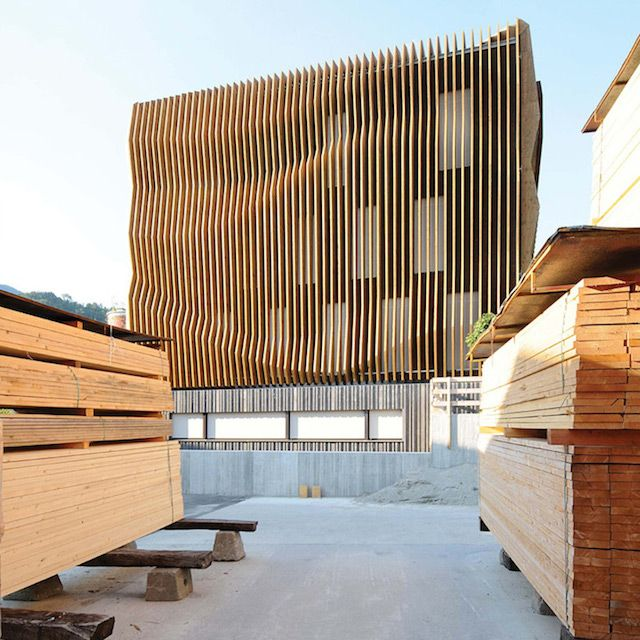 25 best ideas about wood facade on pinterest timber for Archi facade