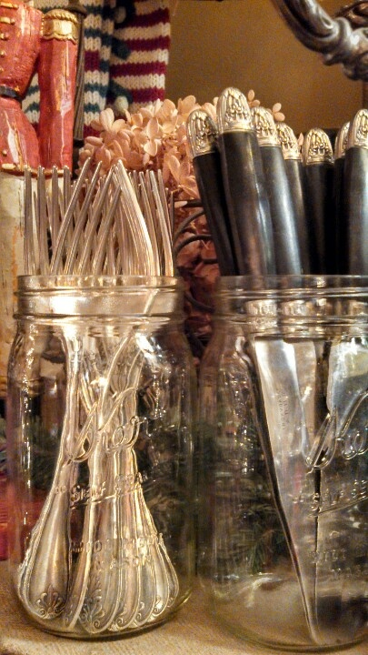 Christofle silver in mason jars!, staging, trade show, hospitality, Trade…