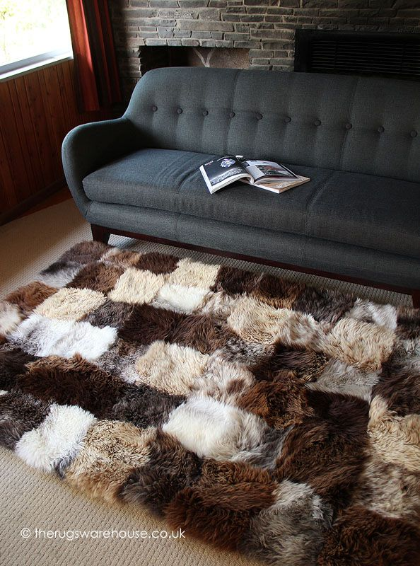 Palma Rug A Luxurious Brown Beige And Cream New Zealand Longwool Sheepskinrug Http