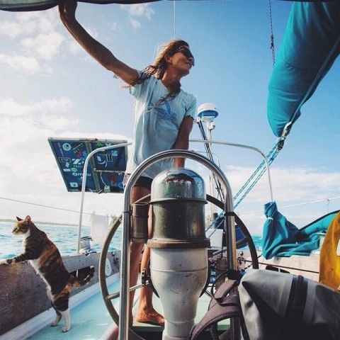 Just love this woman! So inspiring! :D Bucket list. Life on the open water with my best/first mate.
