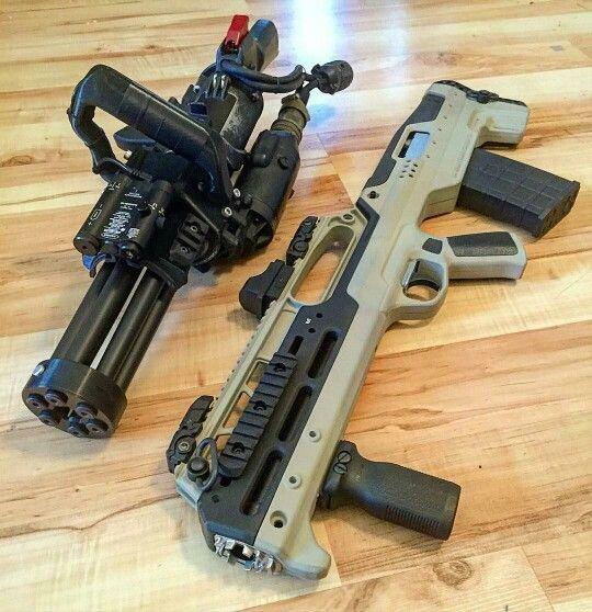5.56 new mini-gun & Russian saiga12 bulpup