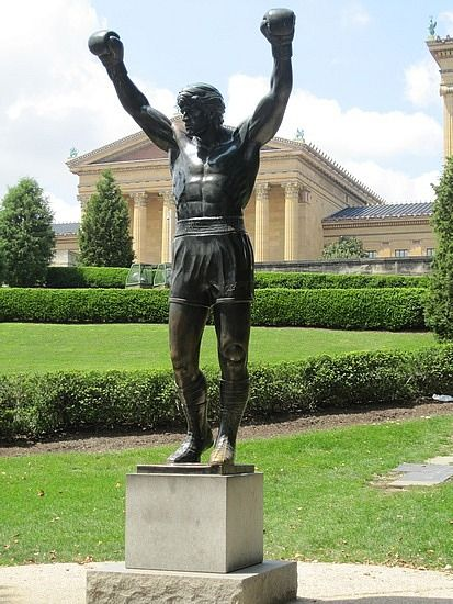 """Philadelphia Art Museum - the Rocky statue, representing Sylvester Stallone running up the steps of this museum in movie """"Rocky"""". visitphilly.com"""