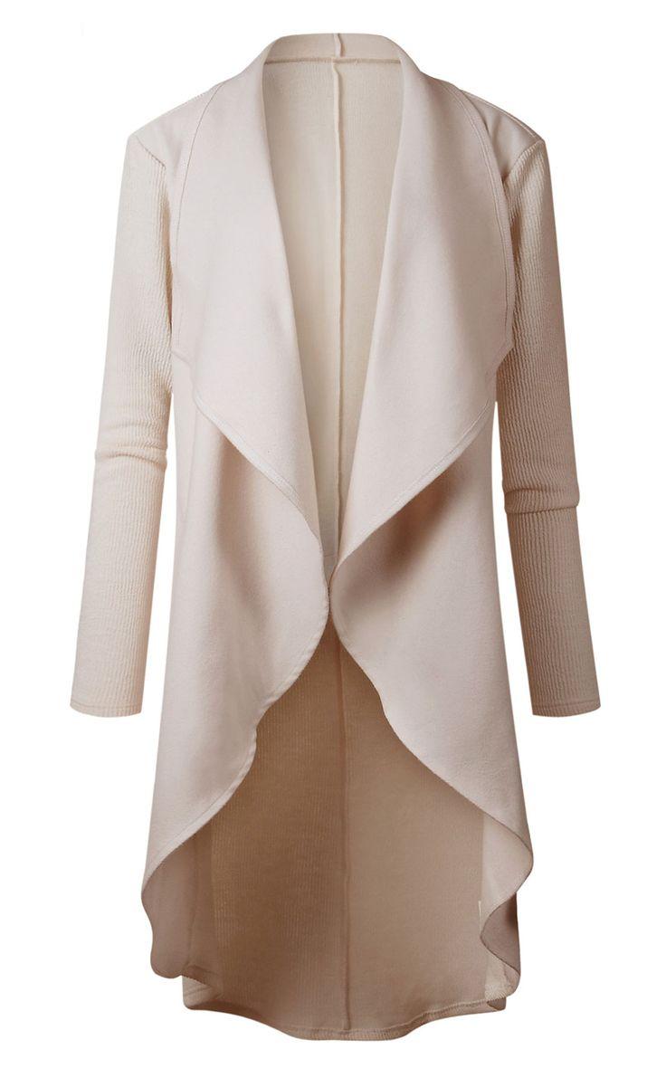 High Low Drape Coat