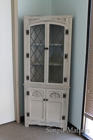 Vintage Coener Cabinet Painted Accent Pieces Pinterest