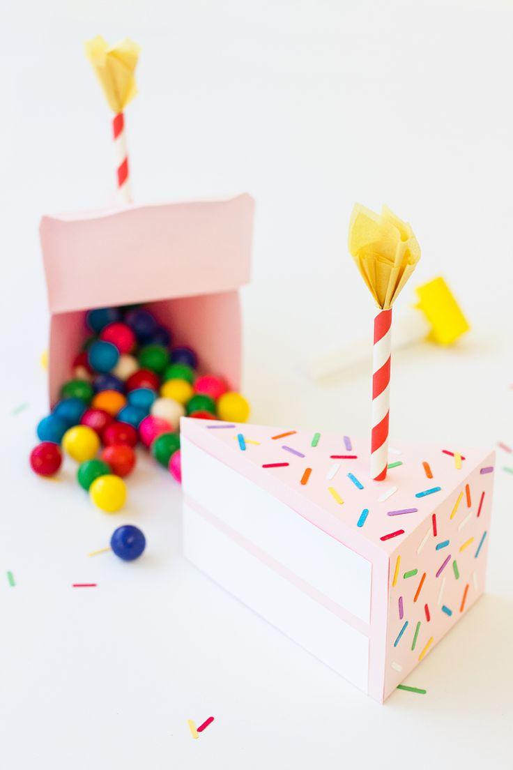 www.kidsboetiek.com loves this DIY Birthday Cake Box #diy #birthday
