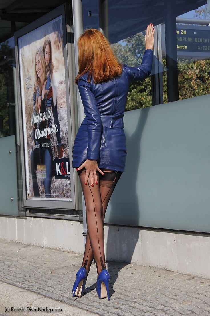 Milf Dressed In Seamed Stockings 57