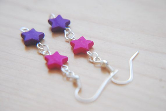 Hey, I found this really awesome Etsy listing at https://www.etsy.com/listing/194033154/cute-coloured-star-earrings-pink