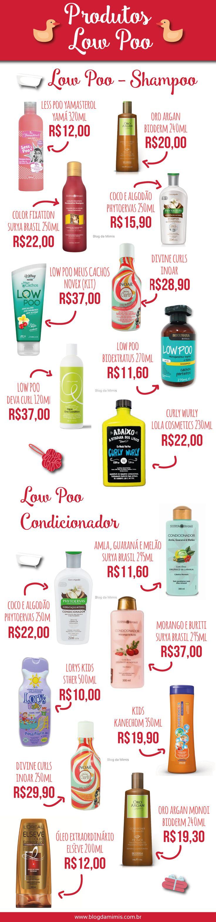 Produtos Low Poo - Blog da Mimis - Lista com os TOP produtos especiais para o…