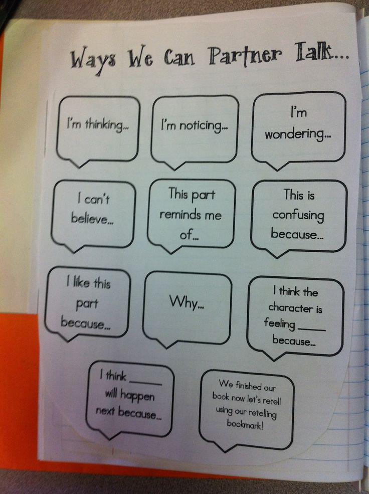 Adventures of a Third Grade Teacher: Reading Workshop partner talk