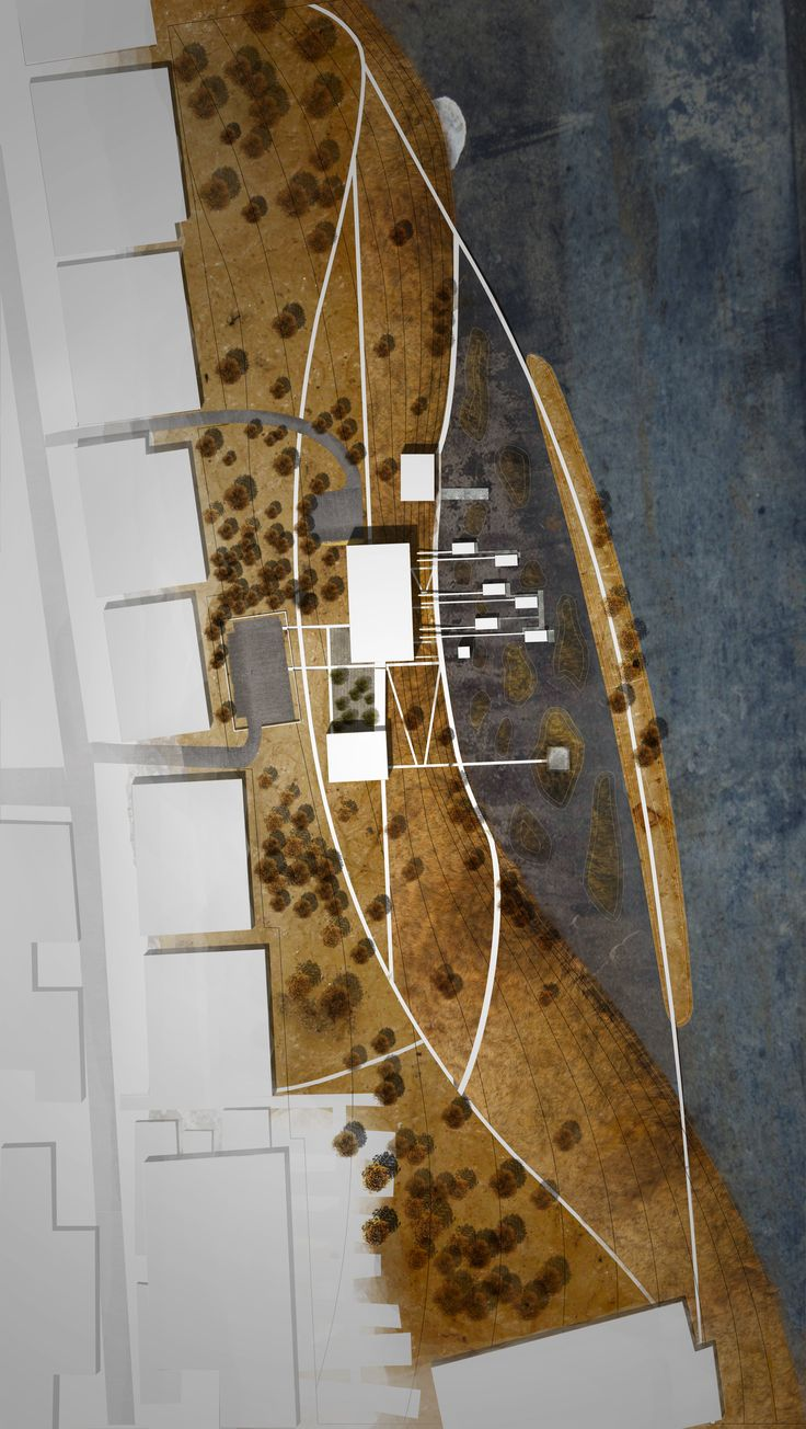 A sombra, aquela que sempre faz a diferença. (Site Plan for a Wetlands Research Center)