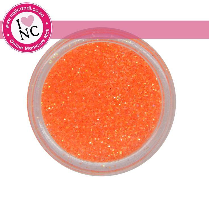 Nail art Glitter - Neon Orange
