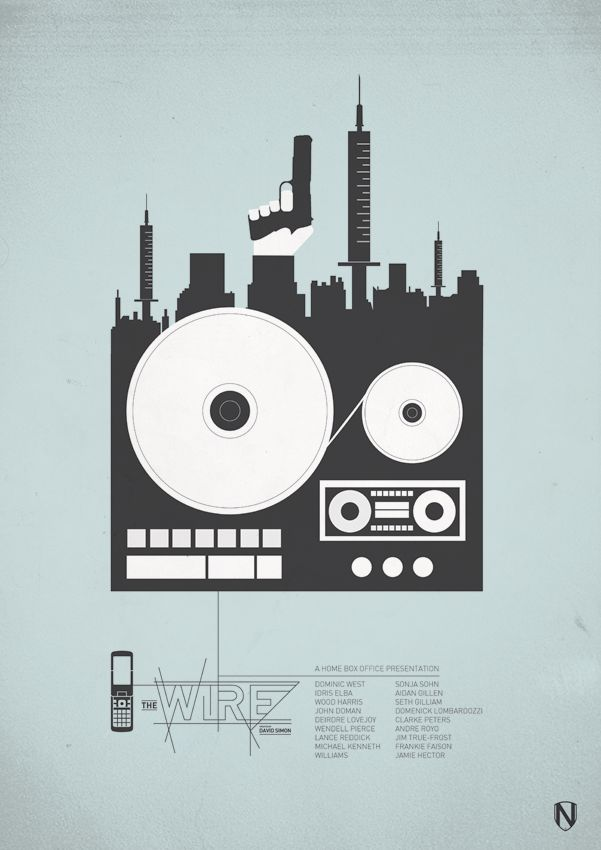 The Wire (2002–2008) ~ Minimal TV Series Poster by Matt Needle #amusementphile