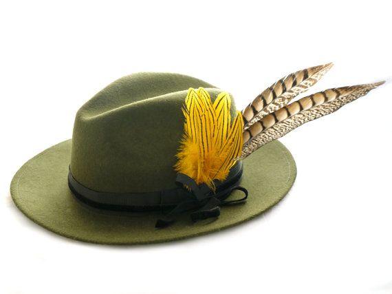Sombrero fedora Monaco por PaleasHat en Etsy