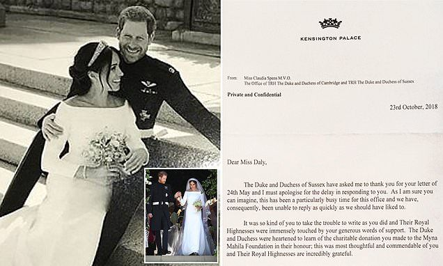 Meghan And Harry Apologise For Their Very Late Thank You Cards