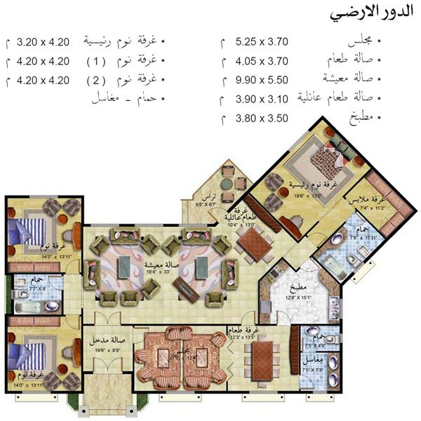 تصاميم منازل House Plans New House Plans Architectural Design House Plans