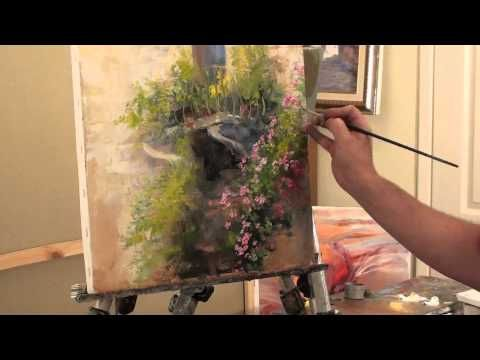 Orchids. Oil painting flowers with a palette knife & paintbrush. Full video tutorial from Saharov - YouTube
