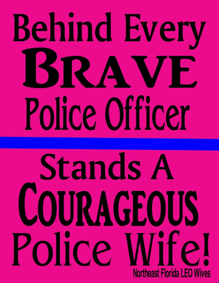 Standing Behind My Police Officer! Amen