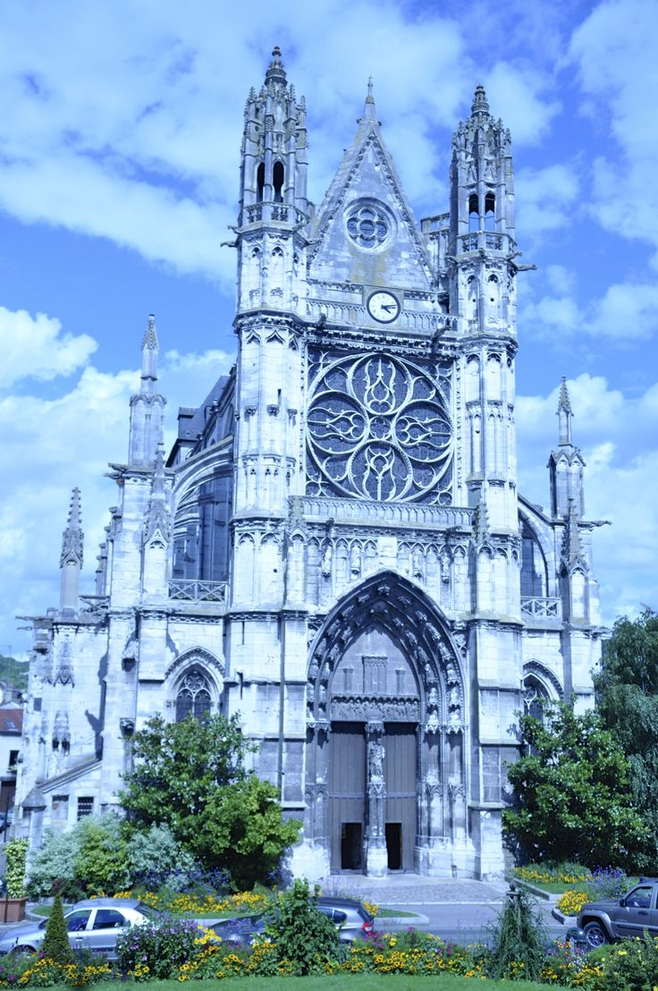 Cathedral in Vernon, France on the Seine River.