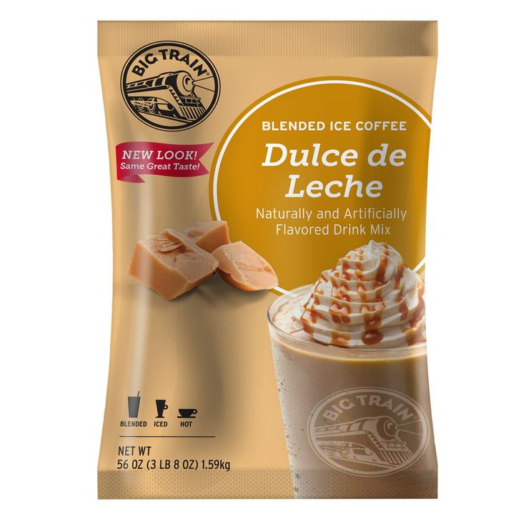 Big Train Dulce De Leche Blended Ice Coffee Mix - 3.5 lb.