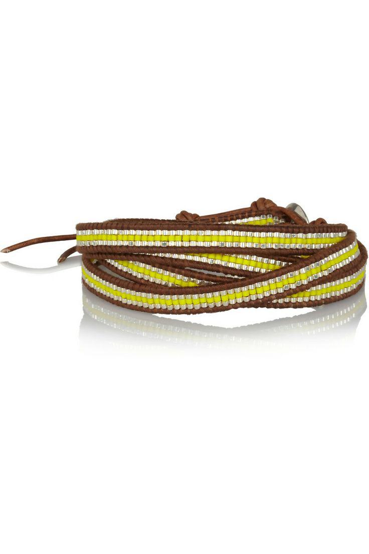 Chan Luu|Leather and resin five wrap bracelet|NET-A-PORTER.COM
