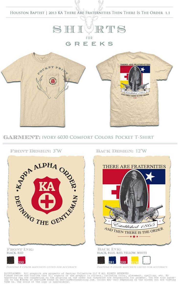 Kappa Alpha Order t shirt chair