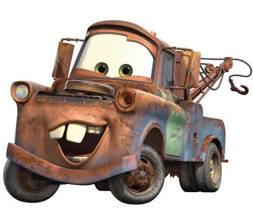 lighting macqueen and mater bedroom wall decorations | ... RMK1519GM Disney Pixar Cars Mater Peel & Stick Giant Wall Decal