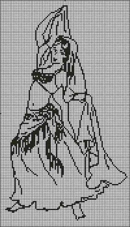 Belly dancer cross stitch