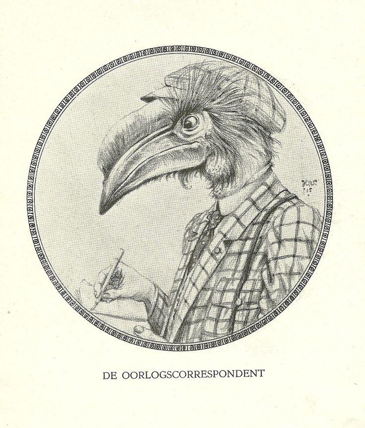 De Oorlogscorrespondent by Henri Verstijnen. Europeana 1914-1918, CC BY-SA