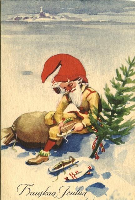Hauskaa Joulua (=Merry Christmas) in Finnish