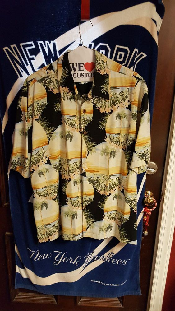 03-02-18 JUST RE-LISTED ON HOMELESS TO INDEPENDENCE INC.'S EBAY CHARITY STORE! THANK YOU SO MUCH FOR SUPPORTING HOMELESS TO INDEPENDENCE INC.! Men's Jamaica Jaxx 100% Silk Button Front S/S Floral Trop Shirt Black Size 2XL #JamaicaJaxx #ButtonFront