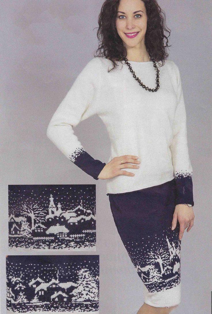 схемы вязания женской кофты с v-образным вырезом