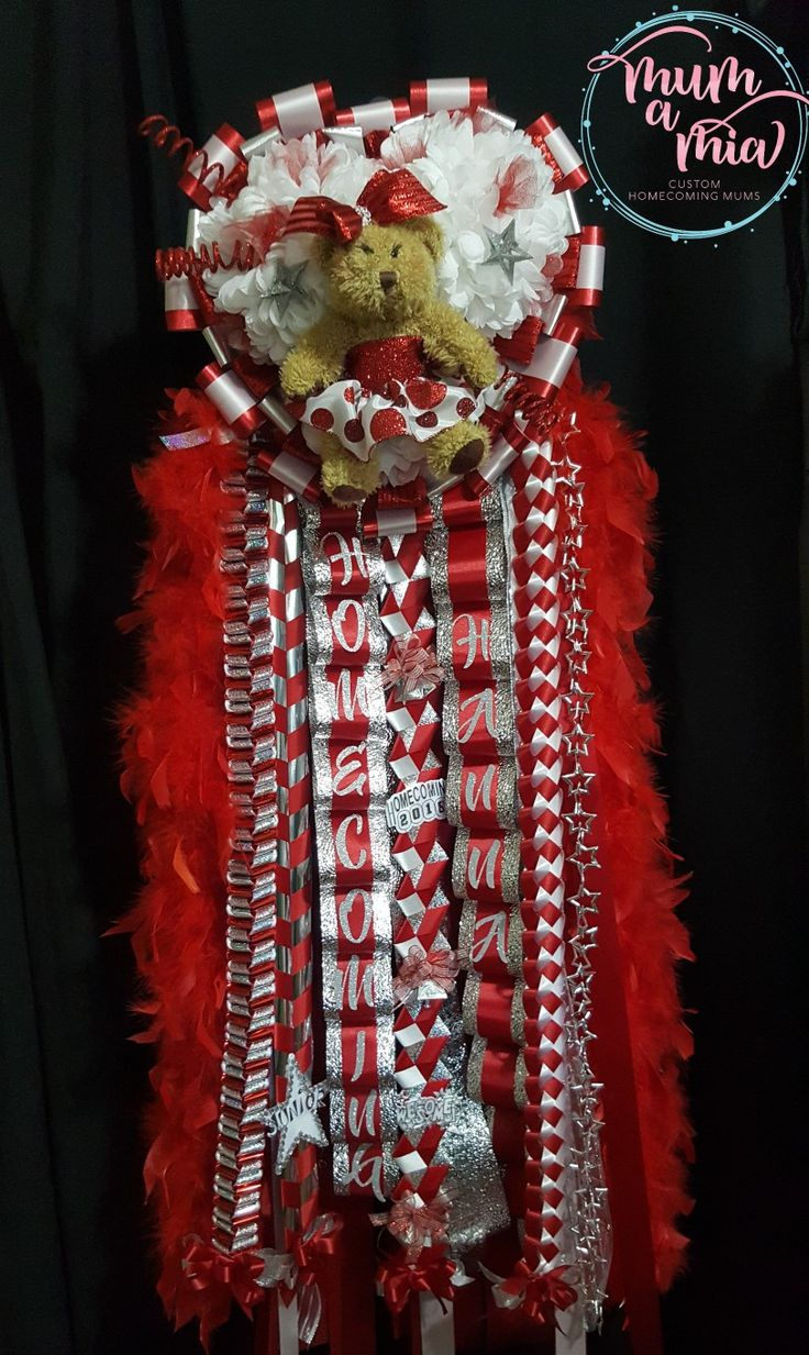 Triple deluxe Homecoming mum for Tomball High School We are located in Cypress, TX. We ship nationwide. 832-231-8628