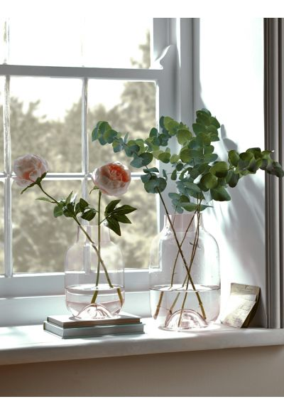 NEW Faded Blush Glass Vases