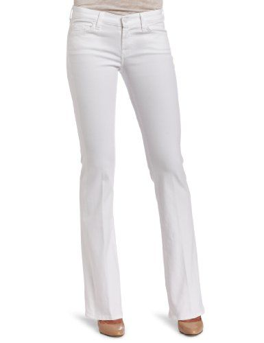 Ladies White Bootcut Jeans | Bbg Clothing