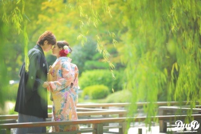 和装ロケーションフォト 結婚写真 和装前撮り 大阪 フォトウエディング専門フォトスタジオのスタジオTVB