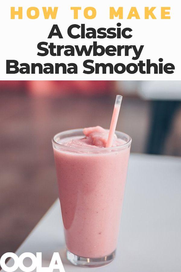 Das klassische Erdbeer-Bananen-Smoothie-Rezept   – Drinks