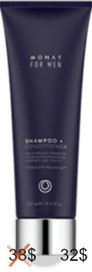Sign up VIP FOR FREE today & get Mens 2-in-1 Shampoo Conditioner for not 38$ but 32$!!! plus FREE SHIPPING. Amazing product for men! Black Friday deal ONLY. ends november 30