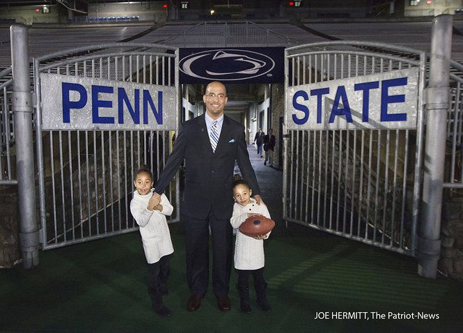 James Franklin is officially introduced as the new Penn State football coach during a news conference at Beaver Stadium. Franklin replaces Bill O'Brien who left for the Houston Texans on December 31, 2013. Joe Hermitt, PennLive